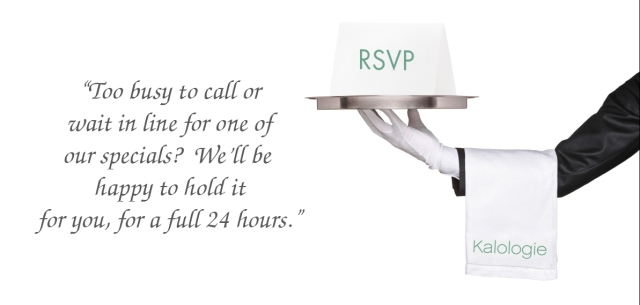Waiter holding a tray with blank card for your text and announce